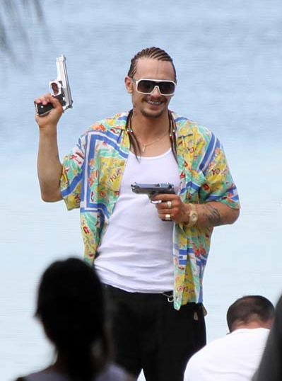 Help Movieline Caption This Picture of James Franco in Cornrows for Harmony Korine's Spring Breakers