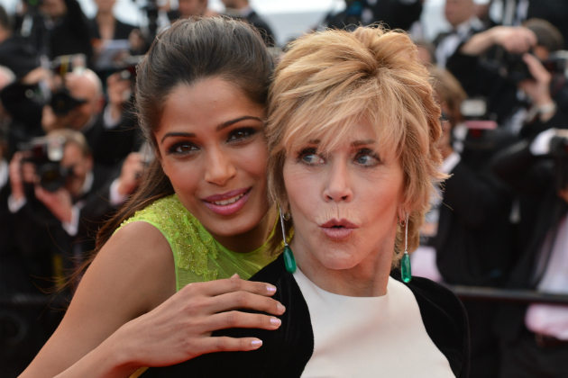Freida Pinto and Jane Fonda