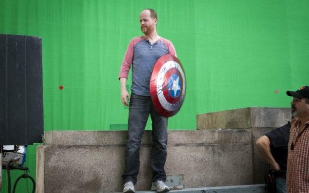Joss Whedon on 'Avengers' set