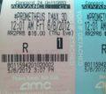 Prometheus Rated R, According to... Movie Ticket?