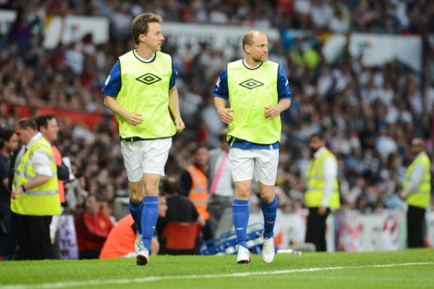 Edward Norton, Woody Harrelson - Soccer Aid