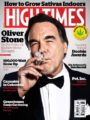 Oliver Stone Smokes A Joint On The Cover Of HIGH TIMES.  (PRNewsFoto/HIGH TIMES)