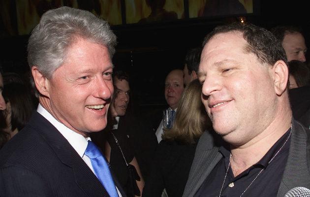 Bill Clinton and Harvey Weinstein