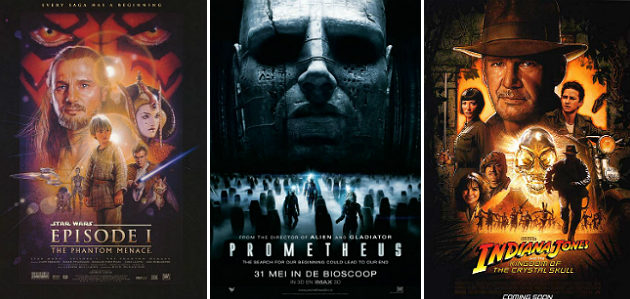 New Hollywood disappointments - Prometheus - Star Wars - Indiana Jones