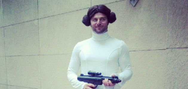 Comic-Con cosplay - Dude Leia