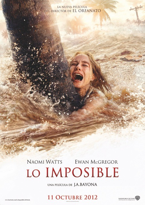 The Impossible teaser poster - Naomi Watts, Ewan McGregor