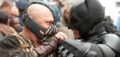 """(L-r) TOM HARDY as Bane and CHRISTIAN BALE as Batman in Warner Bros. Pictures' and Legendary Pictures' action thriller """"THE DARK KNIGHT RISES,"""" a Warner Bros. Pictures release. TM and © DC Comics"""