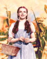 WIZARD OF OZ, THE Index #: 18191Date Released: 1939-08-25Description: Medium shot of Judy Garland as Dorothy Gale, holding basket, standing in front of cornfield. Special art work done for the 60th anniversary re-release.Personalities: GARLAND, JUDY   Source: TURNER THEATRICAL LIBRARY Episode: Category: COLOR SELECTION Reference #: 4166 Dorothy in Cornfield Copyright: (c) 1939 Turner Entertainment Co., An AOL Time Warner Company. All Rights Reserved.