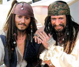 Johnny Depp Keith Richards Pirates