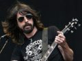 CHELMSFORD, UNITED KINGDOM - AUGUST 18:  Dave Grohl from the Foo Fighters performs on stage during the first day of the annual rock and pop 'V Festival' at Hylands Park, Chelmsford on August 18, 2007 in Essex, England. The two day festival sees the line-up of acts play alternate days at Chelmsford, and at Weston Park, Staffordshire.  (Photo by Gareth Cattermole/Getty Images) *** Local Caption *** Dave Grohl